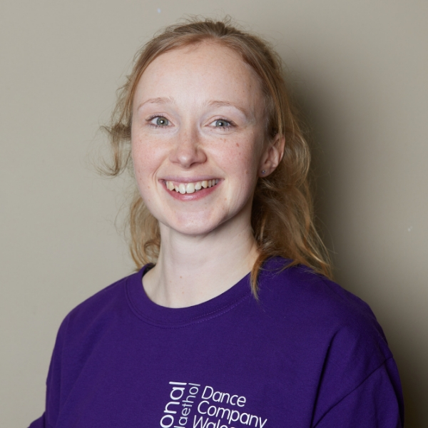Sarah Hall, Blonde hair, PURPLE t-shirt, dance ambassador