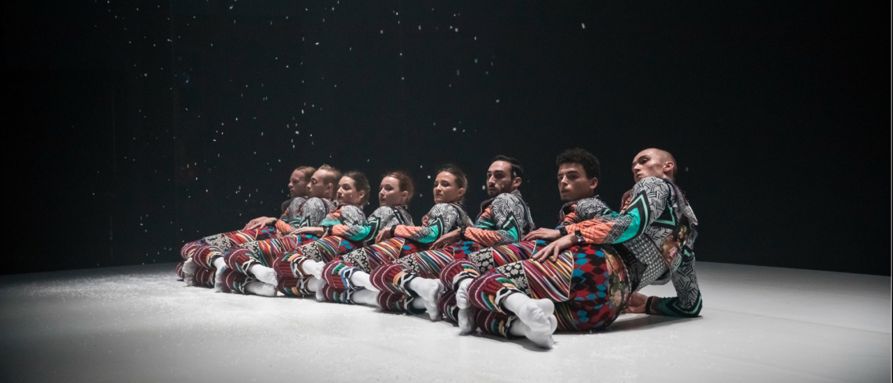 Tundra image dancers on the floor with snow coming down