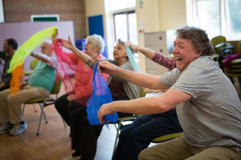 Dance to Health image coloured scarves