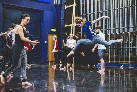 Associates dancing in Blue Room